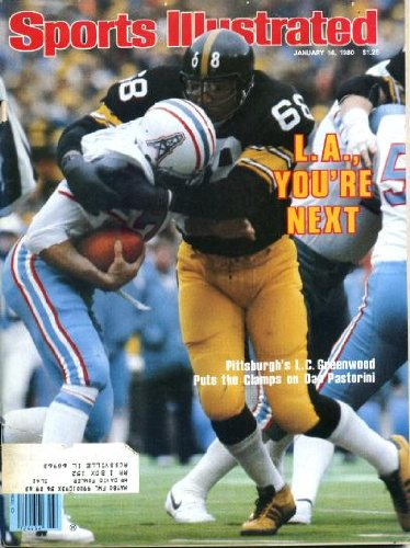 Sports Illustrated January 14 1980 L.C. Greenwood/Pittsburgh Steelers & Dan Pastorini/Houston Oilers on Cover, Los Angeles Rams Beat Tampa Bay Buccaneers, Philadelphia Flyers, USC Beats Ohio State in Rose Bowl, Alabama is National Champion