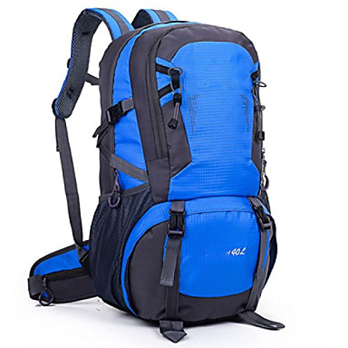 40 L Otros Camping Excursionismo Multifuncional Nylon Backpack,Green Blue