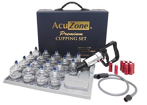 De Qualité Premium Cupping Set w/ 19 Tasses, 10 Acu-pression pointeurs sont INCLUSES ***le MEILLEUR de VENTOUSES MIS EN CORÉE.***
