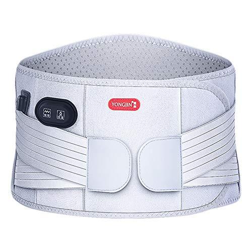 Calentado Abrigo de correa de cintura,3 configuraciones de calor,Batería recargable 7.4V,Almohadilla térmica Lumbar para...