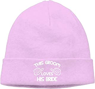 CHKWYN Momen This Groom Loves His Bride Classic Skiing Black Beanies Caps Hats