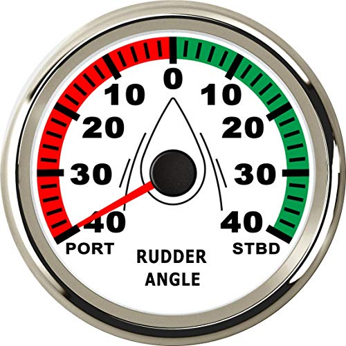 ELING Rudder Angle Indicator Gauge Meter 0-190ohm with Mating Sensor 85mm 9-32V with Backlight