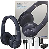 Samsung Universal Level On Wireless 'Noise Canceling' NFC & Microphone Headphones - W/2100 Battery Pack Wall & Car Charger (US Retail Packing Kit) (Red)