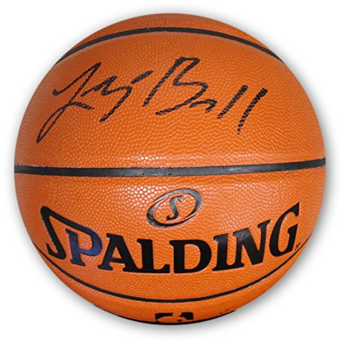 - Lonzo Ball Hand Signed Auto Game Ball Series Basketball Lakers Beckett BAS Blk