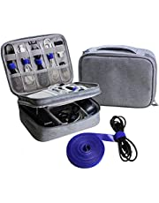 Electronics Organizer Travel Bag Cable Cord Wire Accessories Gadget Gear Storage Cases
