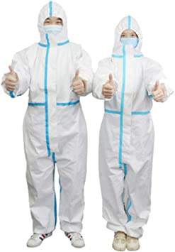 US STOCK Coveralls Gown with Hood Isolation suit CE FDA Registered 2XL