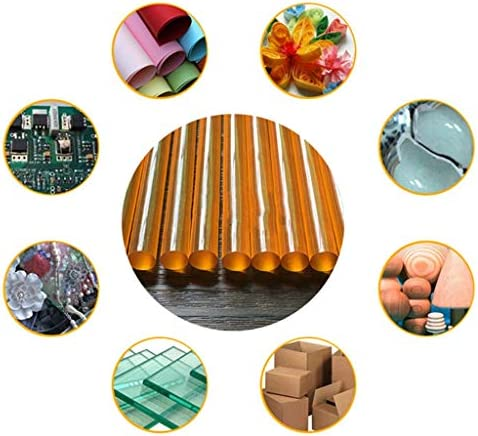 Minmin ブラウン高い温度耐性度のホットメルト接着剤スティック、11ミリメートルX30cm、30個、手動修復ツール ミニ (Color : Brown)
