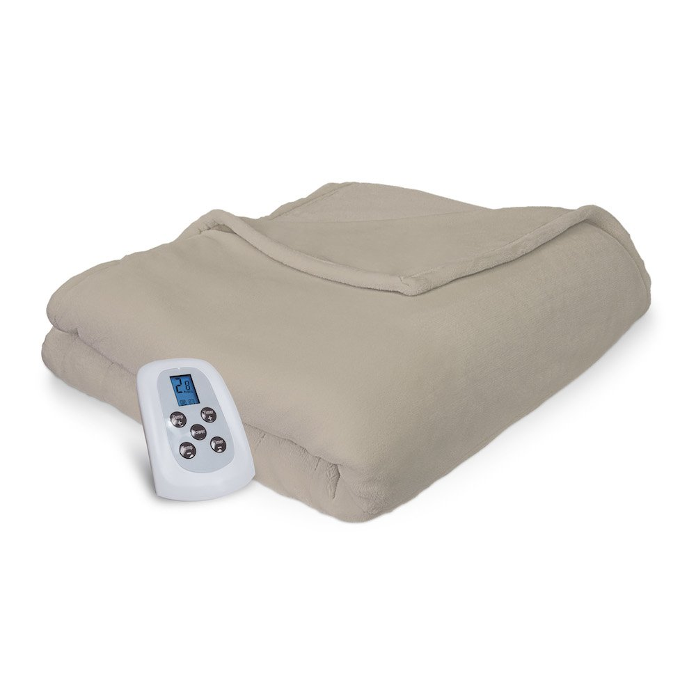 amazon com serta comfort plush electric heated blanket with