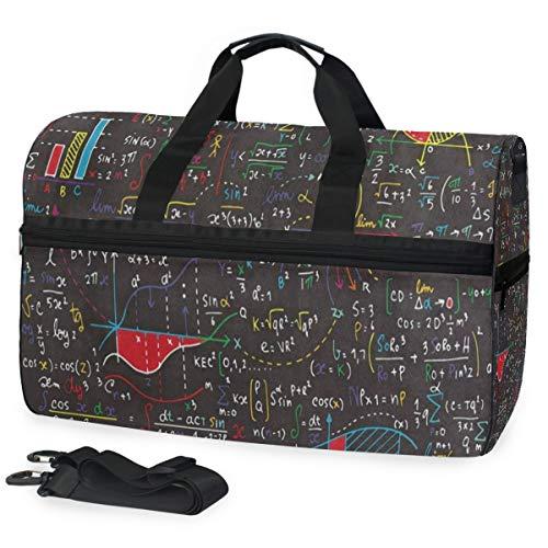 Gym Bag Cute Math Formula Education Duffle Bag Large Sport Casual Fashion Bag for Men Women