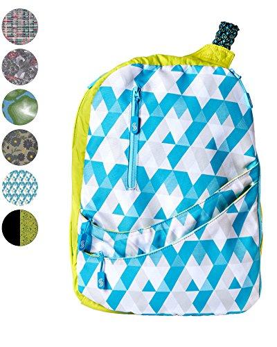 Slope Sling Backpack for Women Juniors Crossbody Bag with 15 inch Laptop Pocket One Shoulder Strap Daypack - Maui Tiles - Hudson