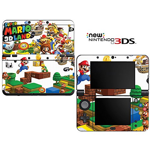 Super Mario 3D Land Decorative Video Game Decal Cover Skin Protector for New Nintendo 3DS (2015 Edition) (New Nintendo 3ds Super Mario 3d Land Edition)