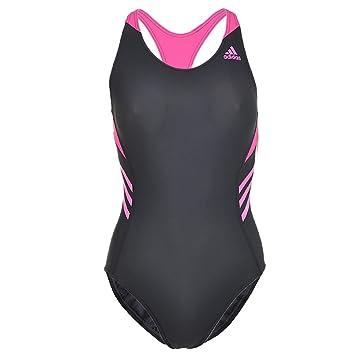 8d1c06737d51 adidas Women s Swimming Costume - Dark Grey Pink
