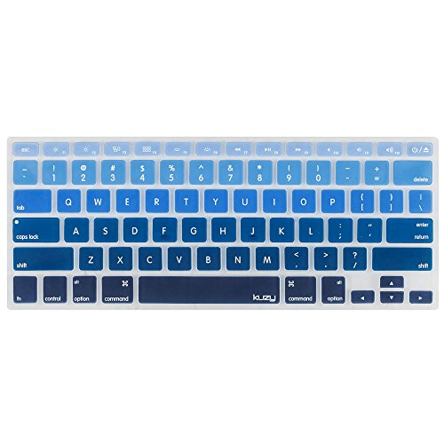 Kuzy BLUE Ombre Colors Keyboard Cover Silicone Skin for MacBook Pro 13