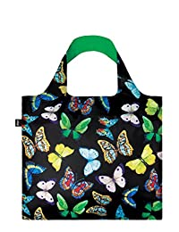 LOQI Reusable Tote Bag, Butterflies Print, Multi-Colored Print, International Carry-on