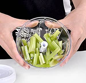 Multifunctional, shredder, broken dishes, hand twisted cuisine twist filling machine, whirlwind dishes, mixer , light yellow
