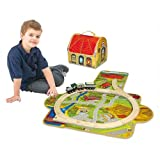 ZipBin Softie Train Depot Playset