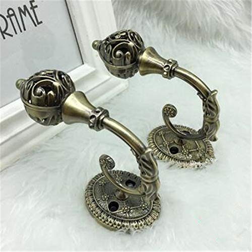 JONARO 2pcs European Hollow Crystal Ball Curtain Holder Wall TieBack Hanger Hook Curtain Accessories Home Decor