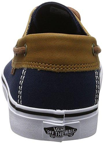 Vans Chauffeur SF (Gewaschen Schwarz) Herren Skate Schuhe (C & L) Kleid Blues / Weiß