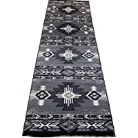 Southwestern Apache Woven 3x10 Area Rug Gray Black Runner Actual Size 23x1010