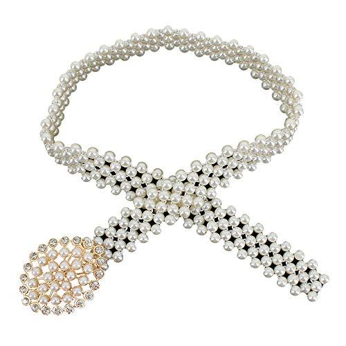 Felice Pearl Waist Belt for Women for Dresses Diamond Waist Chain Rhinestone Buckle Bridal Belts Dress Decoration Best Gift