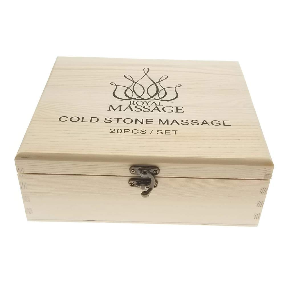 Royal Massage  20pc Massage Marble Cold Stone Therapy Set with Bamboo Case by Royal Massage (Image #4)