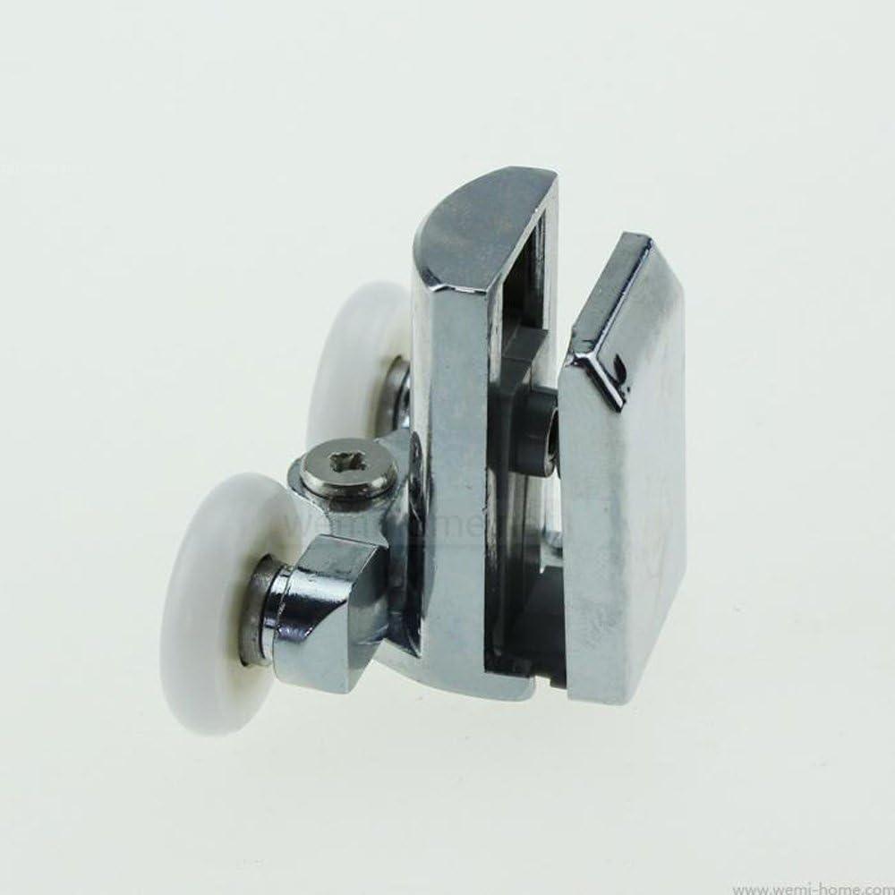 Smooth aleación de zinc para mampara de ducha doble rodillos corredores – Set de 4 – Parte inferior: Amazon.es: Bricolaje y herramientas