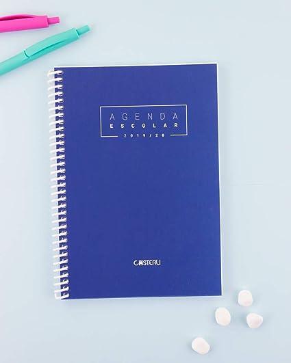 Casterli - Agenda Escolar 2019-2020 Basic Edition - Semana Vista, Tamaño A5 (Azul)