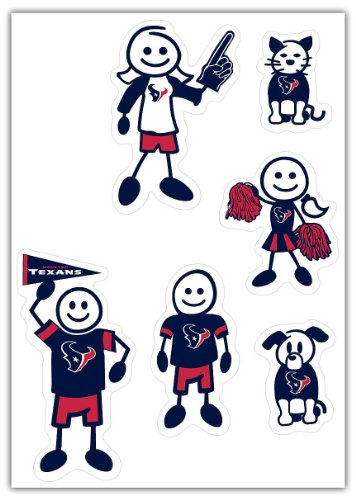 Siskiyou NFL Houston Texans Small Family Decal Set