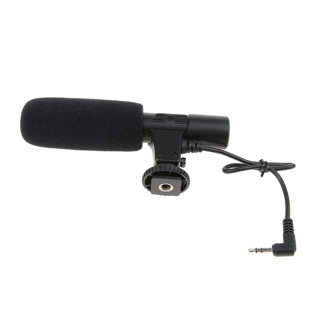 MagiDeal Camera Microphone, Mic-01 3.5mm Digital Video Recording Microphone for D-SLR Camera, DV Camera, Mobile Phone and Computer, Black