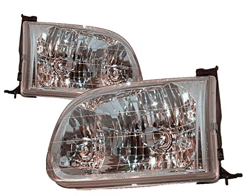 Access Cab Models - For 2000 2001 2002 2003 2004 Toyota Tundra Regular Cab/Access Cab Model Headlight Headlamp Driver Left and Passenger Right Side Pair Set Replacement TO2502129 TO2503129