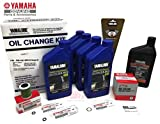 YAMAHA F200XB Outboard Oil Change Kit 10W-30 4M Primary Fuel Filter Lower Unit Gear Lube & Gaskets Maintenance Kit