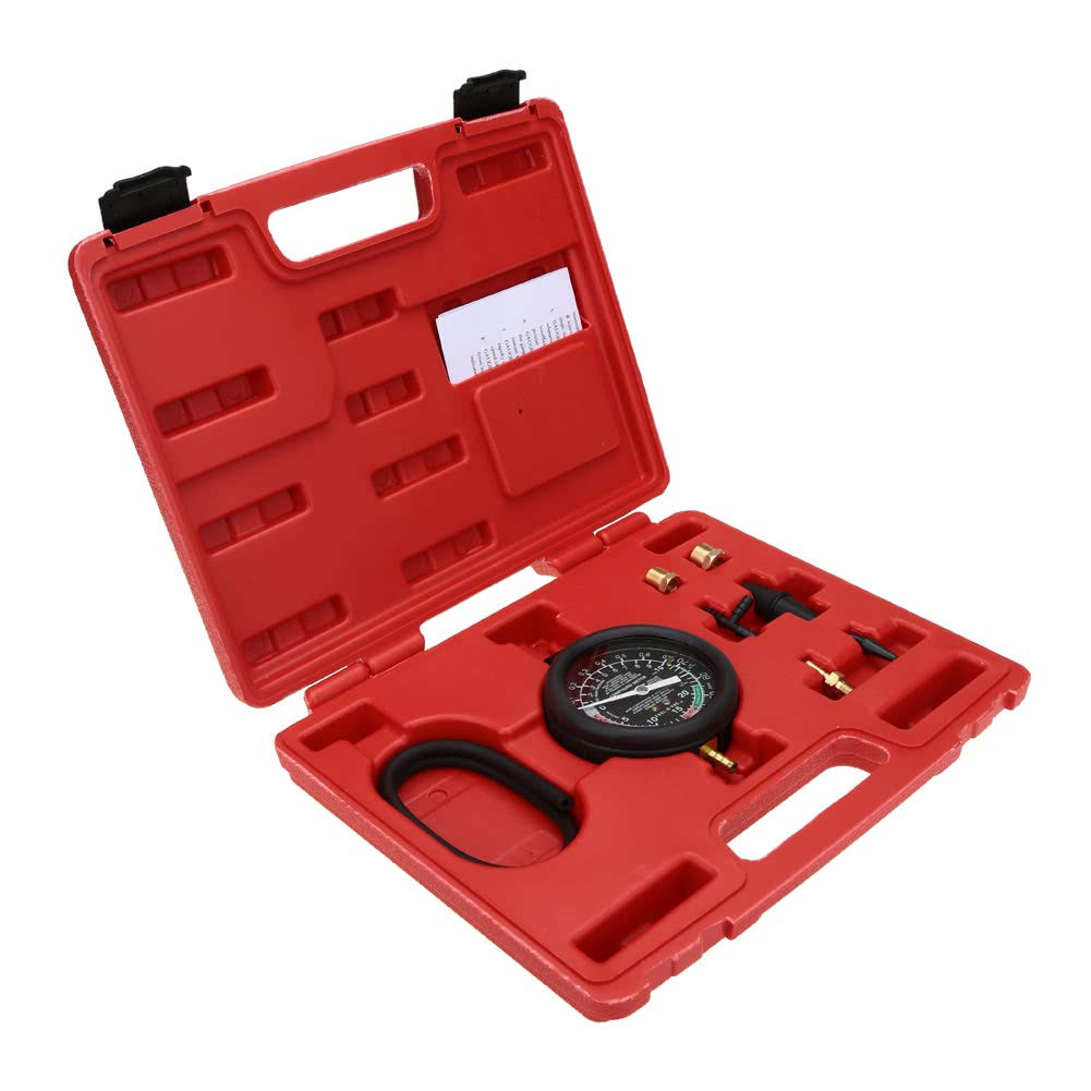 Dingq Vacuum & Fuel Pump Pressure Tester Pressure Gauge Test Tool Kit Carburettor Valve by Dingq (Image #3)