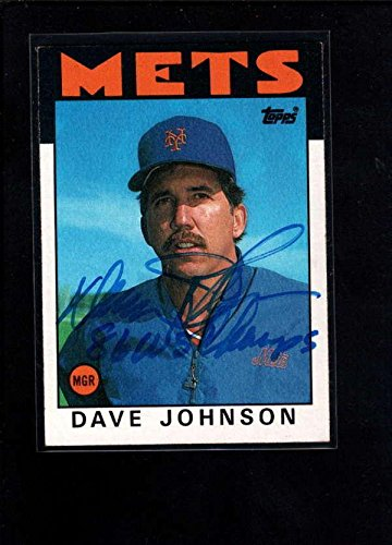 1986 Topps Autographed Card - 1986 Topps #501 Dave Johnson Authentic On Card Auto Signature Ax3187 - MLB Autographed Baseball Cards