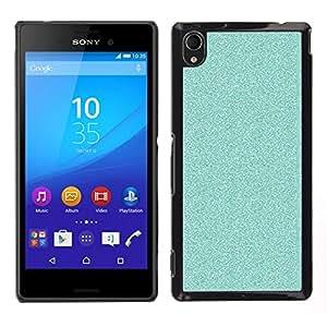 Caucho caso de Shell duro de la cubierta de accesorios de protección BY RAYDREAMMM - Sony Xperia M4 Aqua - Azul brillante de Bling Limpio