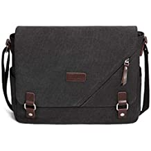 ibagbar Canvas Laptop Messenger Bags 14 Inch Crossbody Shoulder Bag Computer Bags with Padded...
