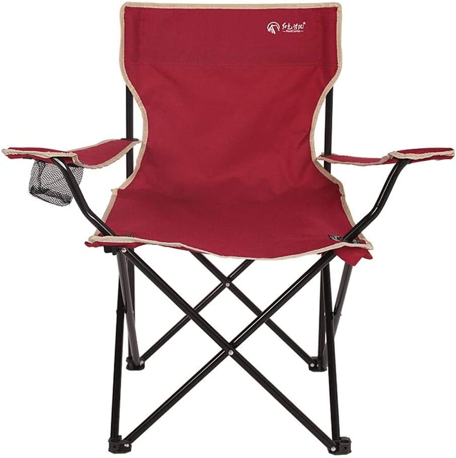 Paddia Deluxe Portable Folding Camping Deck Chairfoldable Fishing Picnic Patio Furniture Seat Super Compact and Lightweight Folding Chair Sturdy Steel Frame Portable Camp Chair Use for Festivals Fishi
