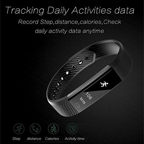 9d2b6a4561d289 Montre de Fitness Bracelet Intelligent Tracker d Activité avec Podomètre,  Calorie, Sommeil,