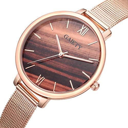 Amazon.com: Reloj de DAMA WoCoo Fashion Aurora Analog Quartz Wrist Watch with Stainless Steel Mesh Strap Watches Gifts (E): Kitchen & Dining
