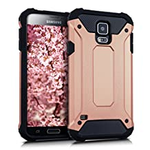 kwmobile Hybrid case Design Transformer for Samsung Galaxy S5 / S5 Neo / S5 LTE+ / S5 Duos in rose gold black