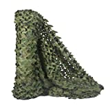 HYOUT Camouflage Netting, Camo Net Woodland Blinds Great for Military Sunshade Camping Shooting Hunting Party Decoration 5x6.5ft