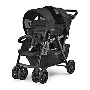 0775b6099 Chicco Cortina Together Double Stroller, Obsidian : Baby - Amazon.com