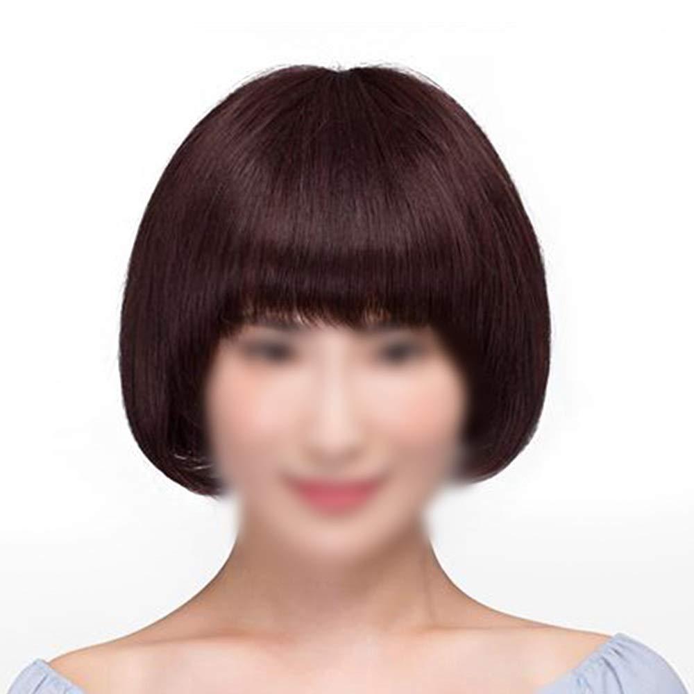 セットアップ BOBIDYEE 女性のストレートショートボブ耐熱合成天然ブラウンカラーフルヘアかつらと前髪ショートレッドウィッグ (色 : Dark brown) BOBIDYEE Dark B07RBS36VX Natural color Natural Natural color, エヌズファーニチャー:162388ca --- mrplusfm.net