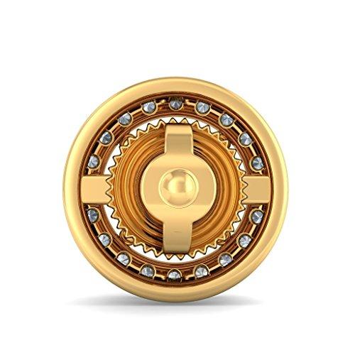 Or jaune 18K 0,2CT TW White-diamond (IJ | SI) et tourmaline rose Boucles d'oreille à tige