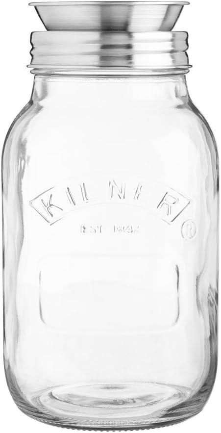 Kilner Integrated Spiralizer and Jar Set, 1L, Transparent
