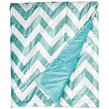 Intelligent Design Oversized Chevron Throw, Blue, 60  x 70