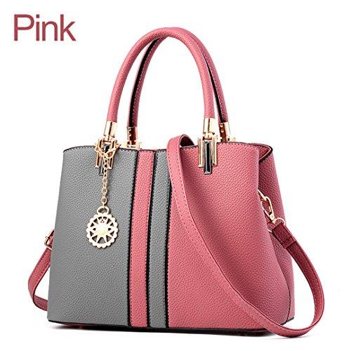Bolso Mujer Cuero De para Pink Pesado Hombro De rY1rwqxS