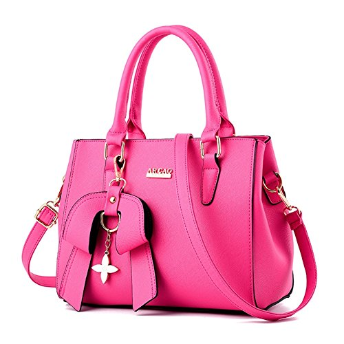 Mikty Women's Casual Evening Tote Bags Leather Shoulder Bags Handbags Roser
