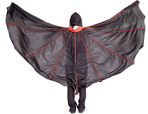 [Halloween Costumes Bat Vampire Cloak Cape with Full Overhead Mask Fancy Dress] (Goth Vampire Mask)