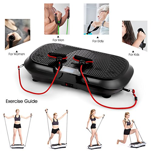 GENKI YD-1010B-B Ultra Slim Vibration Machine Plate Platform Whole Body Shaper Trainer Exercise Black by GENKI (Image #5)