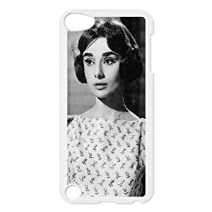 J-LV-F Customized Print Audrey Hepburn Pattern Hard Case for iPod Touch 5